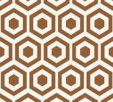 Brown Hexagon Honeycomb by kwg2200