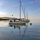 Four Yachts Moored by Lynn Bolt