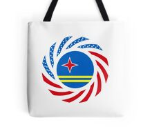 Aruban American Multinational Patriot Flag Series Tote Bag