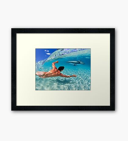 Play Beneath The Waves Framed Print