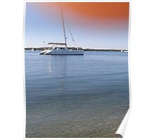 Boats on the Broadwater ! Poster