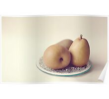 Pears on a Plate  Poster