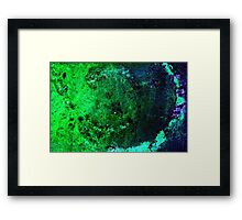 green & blue, on to wax Framed Print