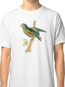 Blue-rumped Parrot by William Swainson Classic T-Shirt