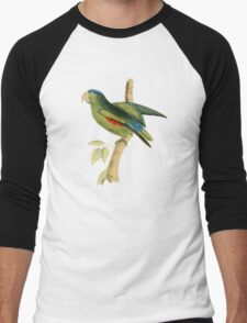 Blue-rumped Parrot by William Swainson Men's Baseball ¾ T-Shirt