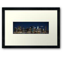 Downtown Manhattan 3x1 Framed Print