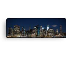 Downtown Manhattan 3x1 Canvas Print