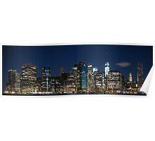 Downtown Manhattan 3x1 Poster