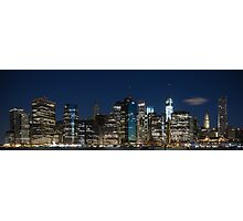 Downtown Manhattan 3x1 Photographic Print