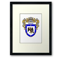 Garcia Coat of Arms/Family Crest Framed Print