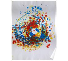 Spiral Spillage 04 - Painting Poster
