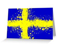 in to the sky, Sweden Greeting Card