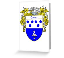 Garza Coat of Arms/Family Crest Greeting Card