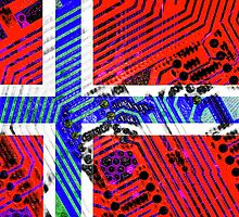 circuit board Norway (Flag) by sebmcnulty