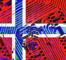 circuit board Norway (Flag) by sebmcnulty
