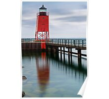 Charlevoix Lighthouse Reflection Poster