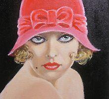 LADY IN A PINK HAT by Dian Bernardo