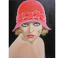 LADY IN A PINK HAT Photographic Print