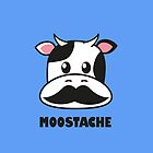 Moostache (white) by Lauramazing