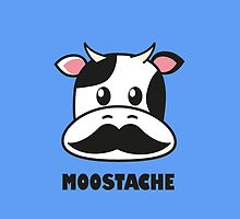 Moostache (white) by Lauramazing