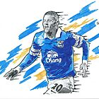 Ross Barkley Pencil & Ink Sketch by chrisjh2210