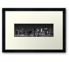 Downtown Manhattan - B&W  3x1 Framed Print