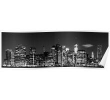 Downtown Manhattan - B&W  3x1 Poster