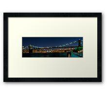 Brooklyn Bridge  3x1 Framed Print