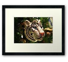 Christmas Tree Ornament - White Tiger Framed Print