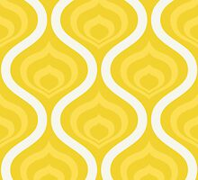 Yellow Retro Waves by kwg2200