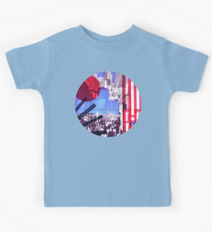 US and Japanese Flags Kids Tee