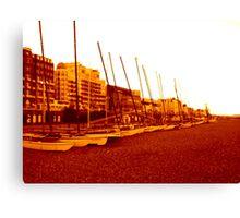 brighton beach (07) Canvas Print