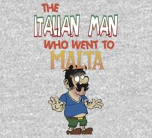 The Italian Man Who Went To Malta - Official T-Shirt  by DanDav