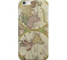 Vintage Map of the World Circa 1742 iPhone Case/Skin
