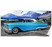 1959 Ford Skyliner Galaxie 500 Poster