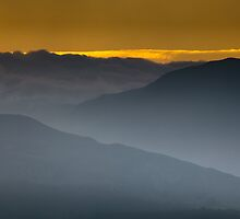 Sunrise in the Snowdonian Mountains by Heidi Stewart