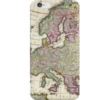 Vintage Map of Europe iPhone Case/Skin
