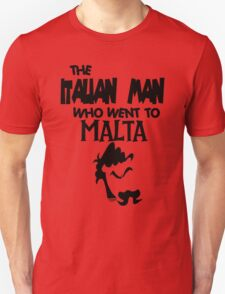 THE Italian Man Who Went To Malta - Official T-Shirt Logo  T-Shirt