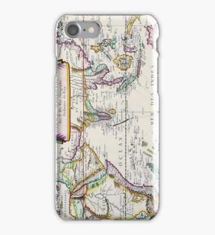 Vintage French Map of the Indies and Orient Circa 1677 iPhone Case/Skin
