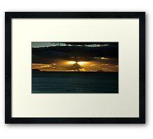 Cornish Sunset Framed Print
