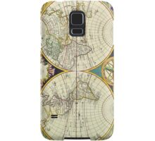 Vintage Antique Map of the World Circa 1755 Samsung Galaxy Case/Skin