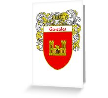Gonzales Coat of Arms/Family Crest Greeting Card