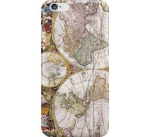 Vintage Antique Map of the World Circa 1686 iPhone Case/Skin