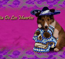 Dia De Los Muertos Day Of The Dead Sheltie Puppy by jkartlife
