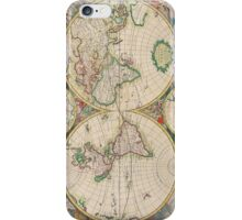 Vintage Antique Map of the Hemispheres iPhone Case/Skin