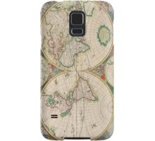 Vintage Antique Map of the Hemispheres Samsung Galaxy Case/Skin
