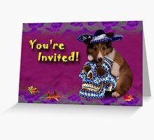 You're Invited Shetland Sheepdog Greeting Card