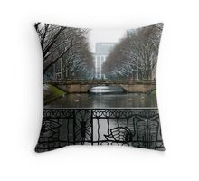 Birds in the Fence Throw Pillow