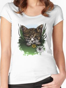 Calico Kitty Women's Fitted Scoop T-Shirt