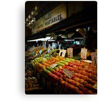 Fruits & Vegetables Canvas Print